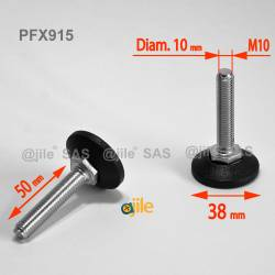 M10 L 50 mm Adjustable foot...