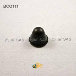 Piedino 18,3 x 14,2 mm conico adesivo - NERO - Ajile