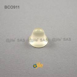 Piedino 18,3 x 14,2 mm conico adesivo - TRASPARENTE - Ajile