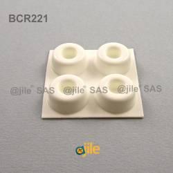 Bumper Stop Adhesive Recessed WHITE diam. 22 mm - Ajile