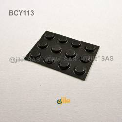 Bumper Stop diam. 13 mm Adhesive Round BLACK Thickness 3.5 mm