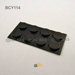 Bumper Stop  diam. 19 mm Wide Adhesive Round BLACK Thickness 4.1 mm - Ajile