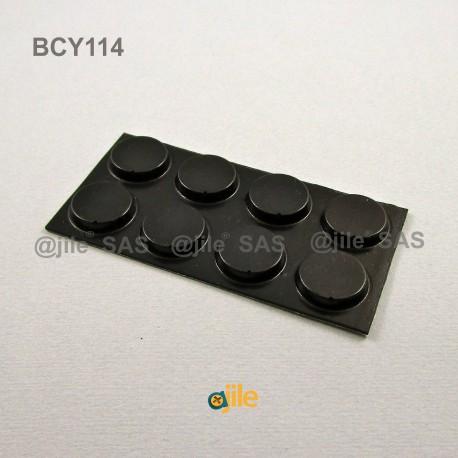 Piedino 19,1 x 4,1 mm cilindrico adesivo - NERO - Ajile