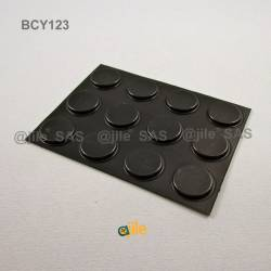 Bumper Stop  diam. 21 mm Wide Adhesive Round BLACK Thickness 3 mm - Ajile