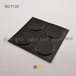 31.2 x 2.5 mm Zylindrisch selbsklebende antirutsch Gummifüsse - SCHWARZ - Ajile 4