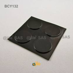 Bumper Stop diam. 31 mm Wide Adhesive Round BLACK Thickness 2.5 mm