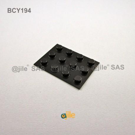 9.5 x 4.8 mm Zylindrisch selbsklebende antirutsch Gummifüsse - SCHWARZ - Ajile