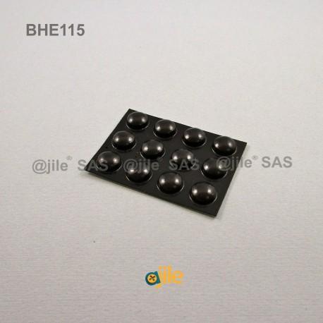 11.1 x 5 mm Kugelförmige selbsklebende antirutsch Gummifüsse - SCHWARZ - Ajile