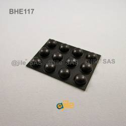 Bumper Stop diam. 16 mm Adhesive Dome BLACK Thickness 8 mm - Ajile