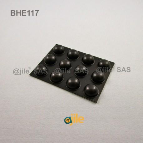 15.7 x 7.9 mm Kugelförmige selbsklebende antirutsch Gummifüsse - SCHWARZ - Ajile