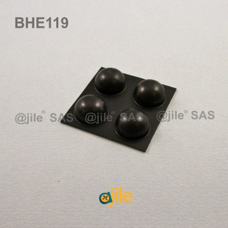 Butée Adhésive Dôme Noire diamètre 18 mm - Ajile