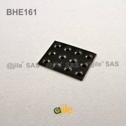 Bumper Stop diam. 6 mm (small) Adhesive Dome BLACK Thickness 1.6 mm