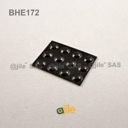 Butée Adhésive Dôme Noire diamètre 8 mm (moyenne) - Ajile