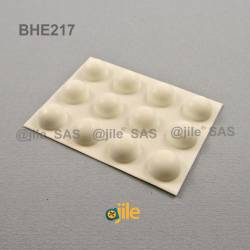 Bumper Stop diam. 16 mm Adhesive Dome WHITE Thickness 8 mm