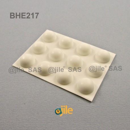 15.7 x 7.9 mm Kugelförmige selbsklebende antirutsch Gummifüsse - WEISS - Ajile