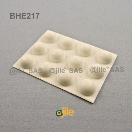 Bumper Stop diam. 16 mm Adhesive Dome WHITE Thickness 8 mm - Ajile