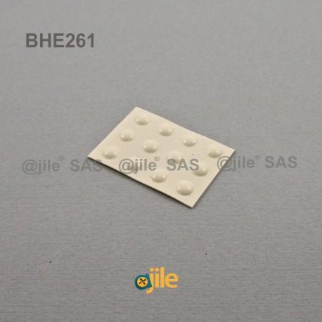 Piedino 6,4 x 1,6 mm sferico adesivo - BIANCO - Ajile