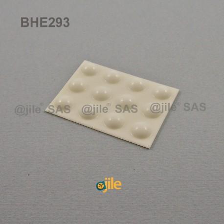 Butée Adhésive Dôme Blanche diamètre 10 mm (grande) - Ajile