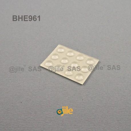 6.4 x 1.6 mm Kugelförmige selbsklebende antirutsch Gummifüsse - DURCHSICHTIG - Ajile