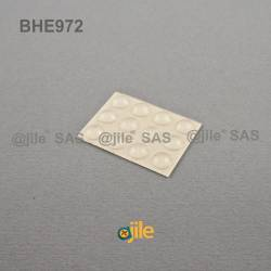 Bumper Stop diam. 8 mm (medium) Adhesive Dome TRANSPARENT Thickness 2 mm - Ajile