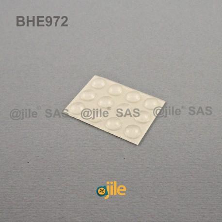 Piedino 7,9 x 2,2 mm sferico adesivo - TRASPARENTE - Ajile