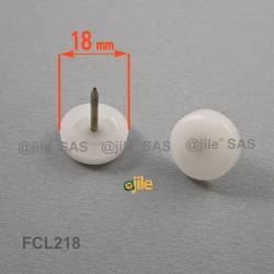 18 mm Kunststoff Nagelgleiter WEISS