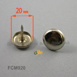 20 mm Nickel plated nail on furniture glide