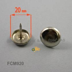 20 mm Sottosedia di acciaio zincato con chiodo