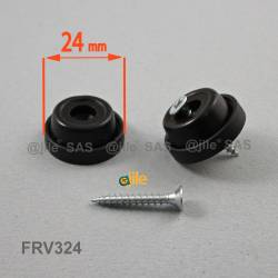 24 mm diam. Anti-slip foot with crosshead screw.