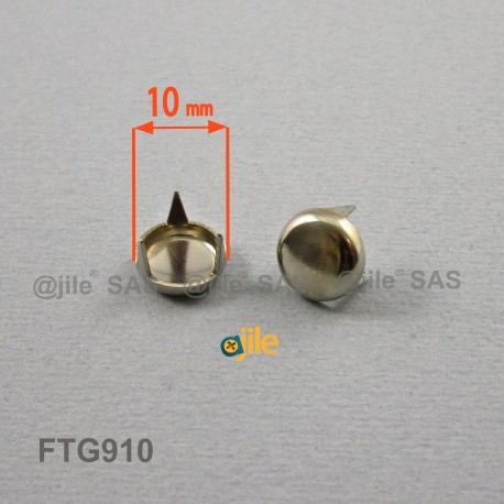 Patin glisseur diamètre 10 mm à trois griffes en acier nickelé - Ajile