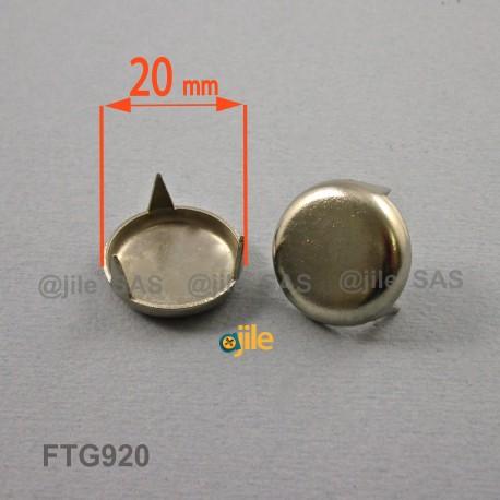 Patin glisseur diamètre 20 mm à trois griffes en acier nickelé - Ajile