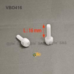 M4 x 16 : Knurled plastic...