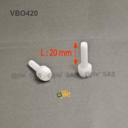 M4x20 : Vis plastique moletée fendue diam. M4 longueur:20 mm