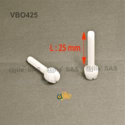 M4 x 25 : Knurled plastic...