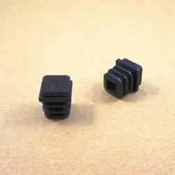 20x20 mm Felt-base square insert - BLACK - noise reduction furniture end cap.