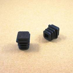 Lamellengleiter 20x20 mm  für Quadratröhre mit Filzgleitfläche - SCHWARZ