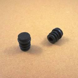 Embout glisseur diam. 20 mm emboitant avec semelle en feutre -  NOIR
