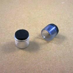 18 mm Durchm. Fusskappen - Durchsichtig - Fusskappen für Rundröhre mit Filz. - Ajile