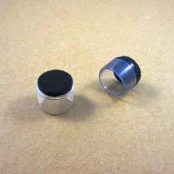 Embout rond diam. 20 mm coiffant plastique transparent semelle feutre pour pied de chaise