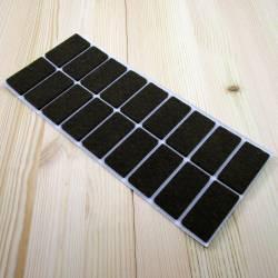 25x50 mm rectangular felt pads BROWN - sheet of 18 stick-on wood protector felt pads.