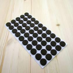 20 mm diameter round felt pads BROWN - sheet of 50 sadhesive scratch protector felt pads.