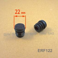 22 mm diam. Felt-base insert - BLACK - round wood protection insert for tube legs.