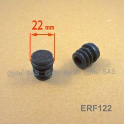 Inserto scivolante 22 mm diam. Inserto alettato tondo con feltro per parquet - NERO
