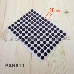 Feltrino adesivo 10 mm  rotondo di protezzione MARRONE - 108 sottopiedi adesivi con feltro.