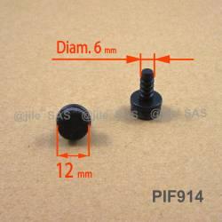 Pied à insérer diamètre 14 mm semelle feutre pour trou diam. 6 mm