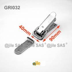 90 x 40 mm Spannhebelverschluss aus Stahl