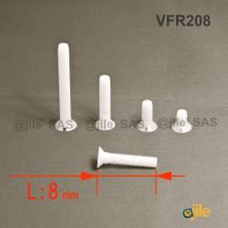 M2.5 x 8 mm Senkschraube...