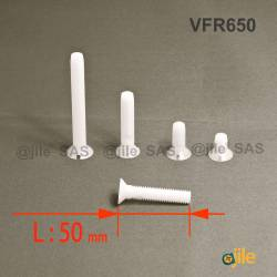 M6x50 : Vis plastique tête...