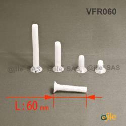M10x60 : Vis plastique tête...