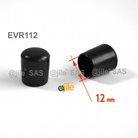 Round ferrule diam. 12 mm BLACK plastic floor protector - Ajile